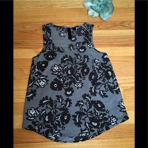 Petticoat Alley Sleevelss Paisley Side Zip Top XS